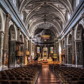 Church of S. Stefano Maggiore, Milan by Andrea Conti - Buildings & Architecture Places of Worship ( arcades, milan, interior, altar, catholic, church, ceiling, columns, chiesa, santo stefano maggiore, architecture, worship, milano, italy )