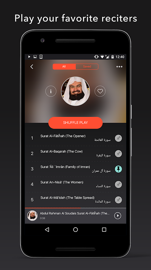 Quran Pro Muslim: MP3 Audio offline & Read Tafsir Screenshot 2