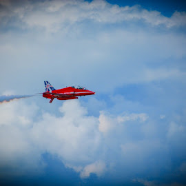 Red Leader by Simon O'Neill - Transportation Airplanes ( flight, red arrows, red, airplane, transportation, planes )