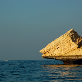 Sea Rock by Ashwini Attri - Landscapes Waterscapes ( water, colors, sunset, sea, rock, light )