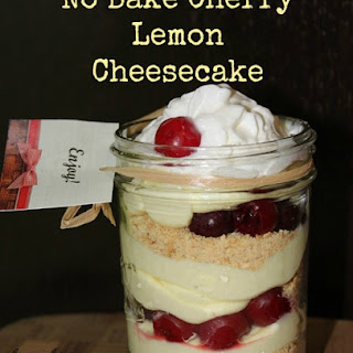 No-Bake Cherry Lemon Cheesecake Trifle #LuckyLeafLuckyMe