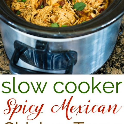 Slow Cooker Spicy Mexican Chicken Tacos