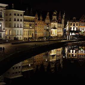 Gent by night by Meint Woortman - City,  Street & Park  Historic Districts