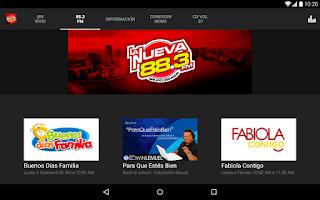 Screenshot of LaNueva883