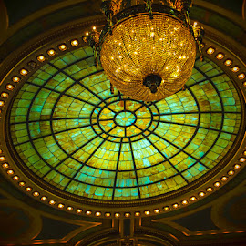 Dome Light by James Kirk - Buildings & Architecture Architectural Detail ( ceiling, green, dome, gold, light )