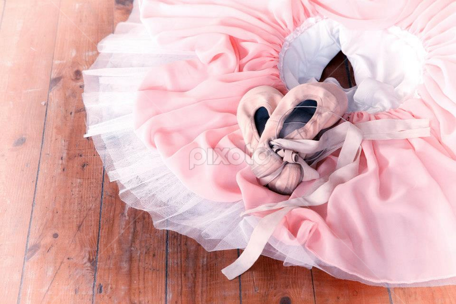 ballet shoes by Linda Stander - Artistic Objects Clothing & Accessories ( shoes, floor, ribbons, pink, ballet )