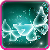 Neon Butterfly Live Wallpaper APK for iPhone