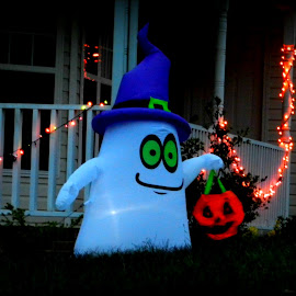 Ghost  by Karen Carter Goforth - Public Holidays Halloween ( decor, lawn ornament, ghost, halloween,  )