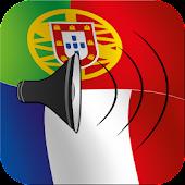 Portuguese to French talking phrasebook translator