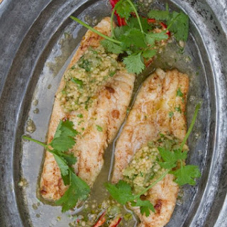 Sauteed Catfish With Cantaloupe, Lime, And Cilantro Salsa