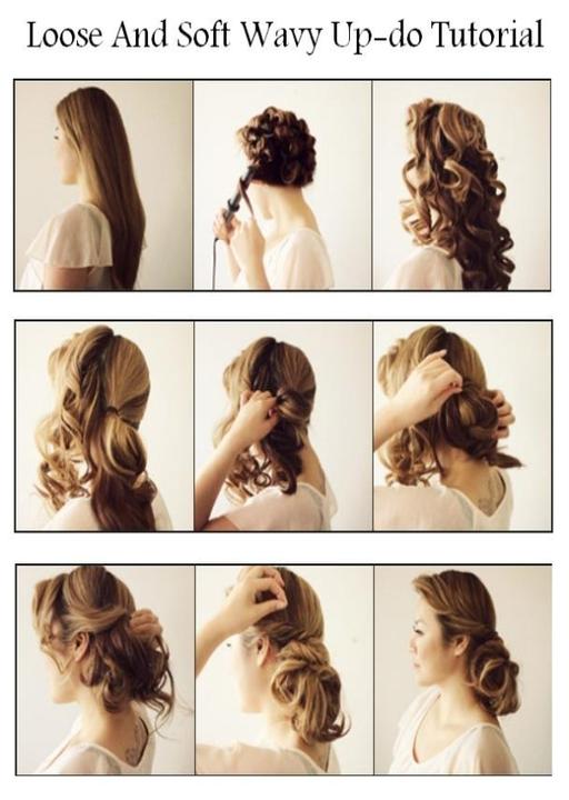 Романтические прически на длинные волосы своими руками 47