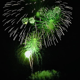 Green fireworks by Lavonne Ripley - Public Holidays July 4th