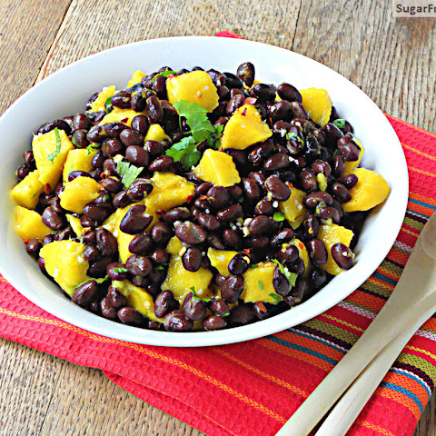 Caribbean Black Bean Mango Salad with Orange Ginger Dressing
