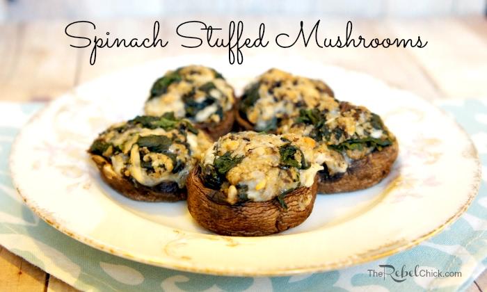 Spinach Stuffed Mushrooms Recipe | Yummly