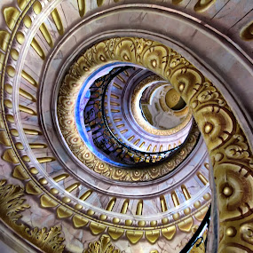 Melk Abbey and Umberto Eco by Daliana Pacuraru - Buildings & Architecture Architectural Detail ( vienna, stairs, daliana pacuraru, pwcdetails, architecture, spiral, umberto eco, abbey,  )