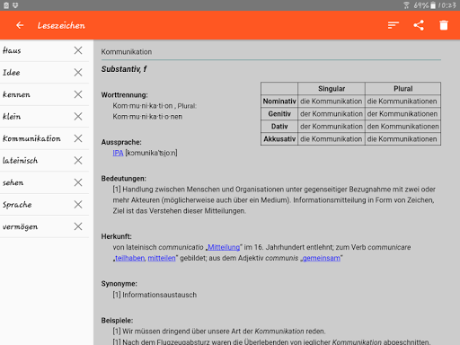 German Dictionary Offline screenshot 13