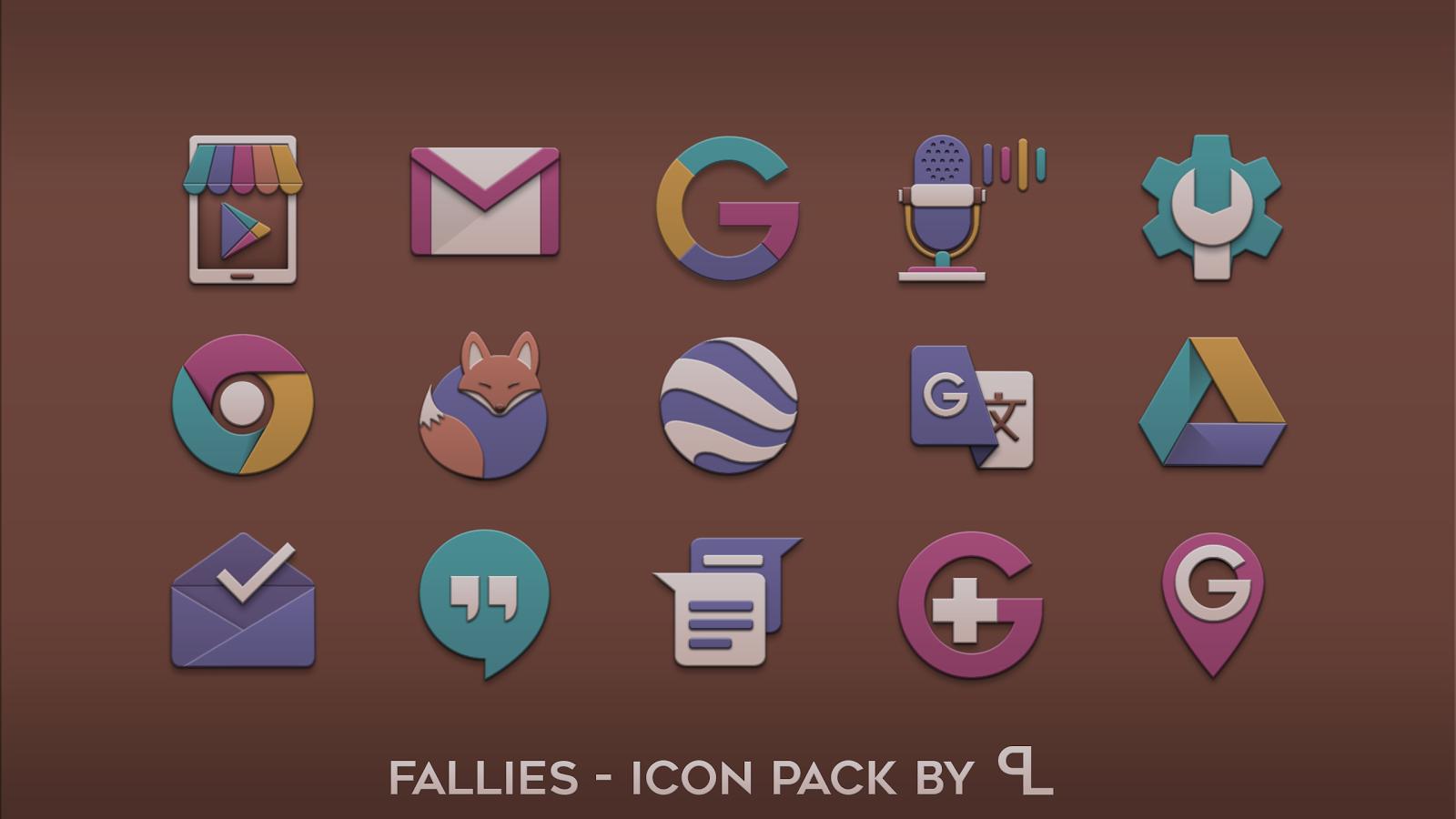 Fallies Icon pack - Chocolat Screenshot 1