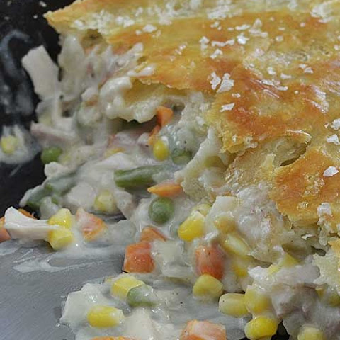 Leftover Turkey Cast Iron Skillet Pot Pie