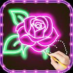 Draw Glow Flower For PC / Windows / MAC