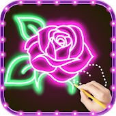 Download Draw Glow Flower APK on PC
