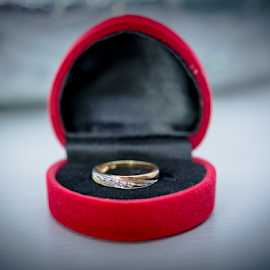 Ring by Irfaan Hussein - Wedding Details ( wedding ring, ring, red box, wedding, bride ring, box, wedding rings, gold, ring box )