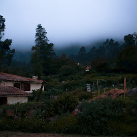 Peru by Pamela Flores - Landscapes Cloud Formations ( winter, green, lanscape, trees, house )