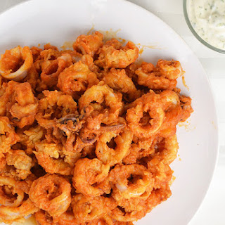 Buffalo Fried Calamari with Ranch Dip