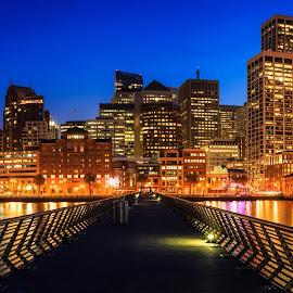 San Francisco by Gannon McGhee - City,  Street & Park  Skylines ( san, blue, california, pier, francisco, night, hour, 14 )