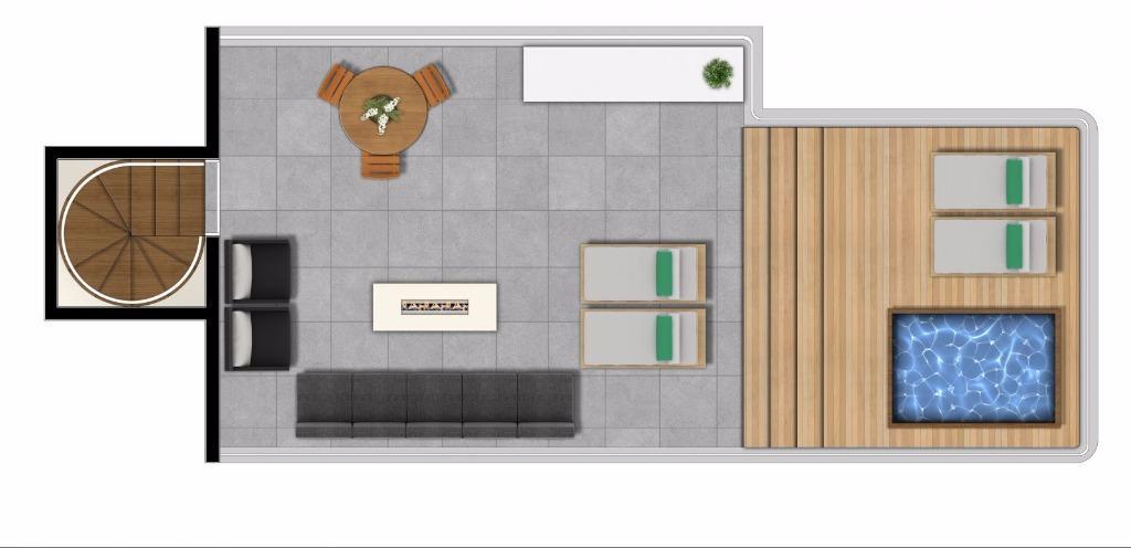 Planta Duplex Superior  116 m²