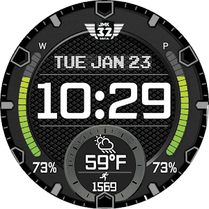 Download VIPER 9 (12h 24h) Watchface for WatchMaker For PC Windows and Mac
