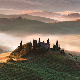 Tuscany by Adnan Bubalo - Landscapes Prairies, Meadows & Fields ( toscana, podere, belvedere, italy )