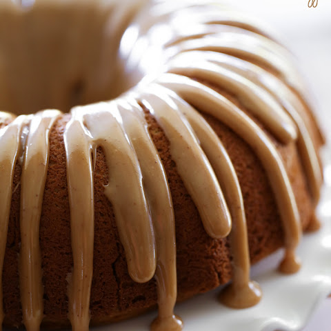 Pumpkin Bundt Cake with Caramel Drizzle