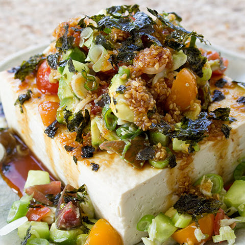 Crab Salad Stuffed Tofu