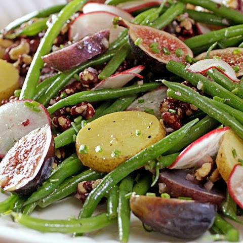 Green Bean and Potato Salad with mission figs and prosciutto
