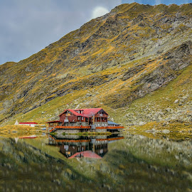 Balea Lake by Ana Maria - Novices Only Landscapes ( mountain, autumn, green, reflections, caban, lake )