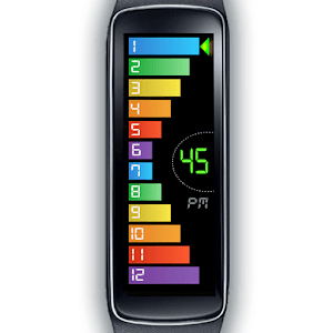 Gear Fit Curved Bar Clock RW
