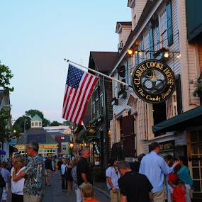 Newport, RI by Maria Po - City,  Street & Park  Street Scenes ( pwcflags )
