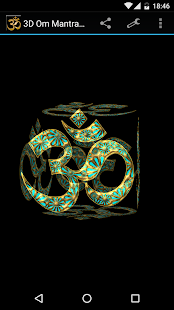 3D Om Mantra Live Wallpaper - screenshot