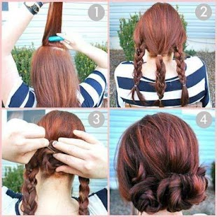 EASY HAIRSTYLES STEP BY STEP - screenshot
