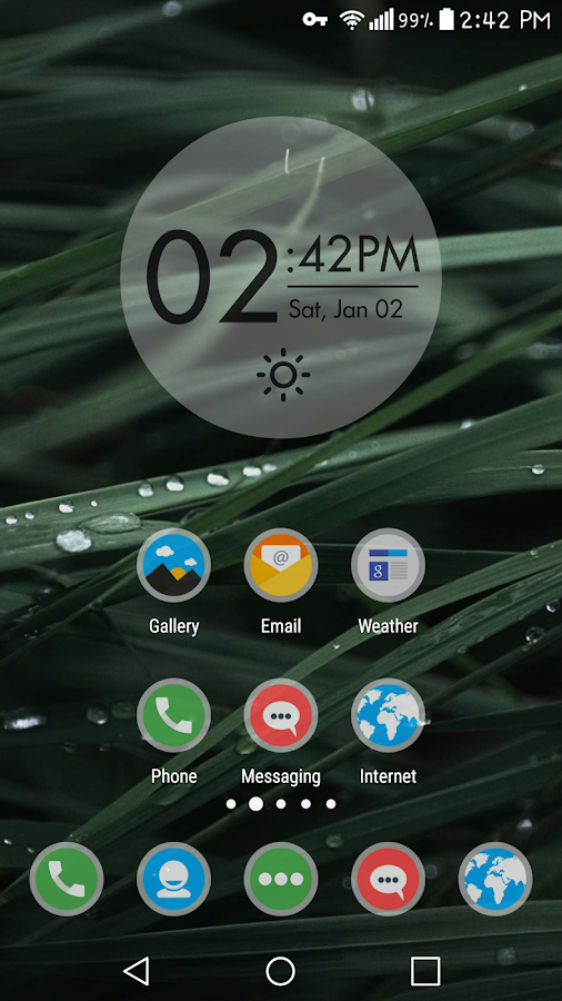 Frosty Icon Pack Theme Screenshot 1
