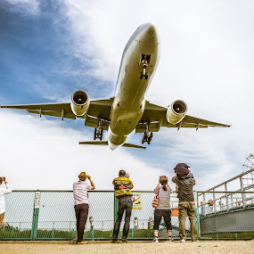 Roger by Ryusuke Komori - Transportation Airplanes ( airport, sky, japan, osaka, people )