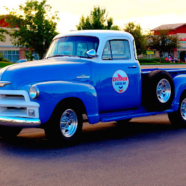 CLASSIC CHEVRON CHEVY TRUCK by Gerry Slabaugh - Transportation Automobiles ( idaho, chevy truck, chevron truck, nampa, 1951, classic chevron chevy truck, chevy, chevron )