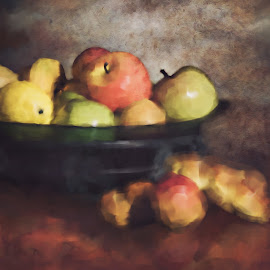 Passion Fruit  by Vicki Street - Painting All Painting ( fruit, fine arts, fruits, fine art photography, fine art, food photography, fruit bowl, photography )