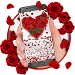 Red Rose Petal Keyboard Icon