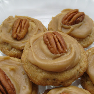 Pecan Praline Cookies with Brown Sugar Frosting