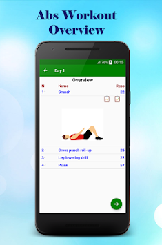 Six Pack Abs Workout - Home Workouts In 30 Day APK screenshot thumbnail 4
