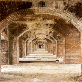 The Halls of Fort Jefferson by Sarah Scully - Buildings & Architecture Public & Historical ( fort jefferson, florida, key west, architecture, dry tortugas,  )