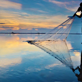 Fisherman by Agus Devayana - Landscapes Sunsets & Sunrises