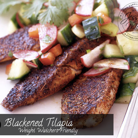 Blackened Tilapia with Radish and Cucumber Salsa - Weight Watchers