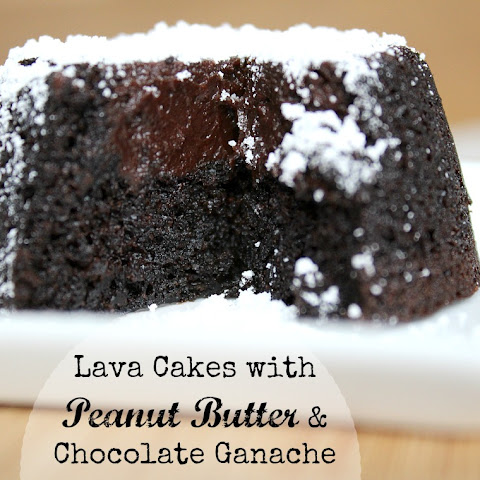 Lava Cakes with Peanut Butter & Chocolate Ganache